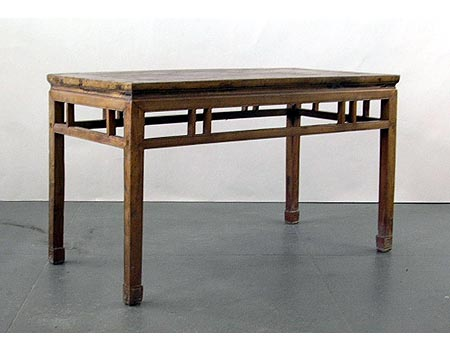A large country-style rectangular table